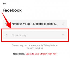 Live now - Paste Stream Key