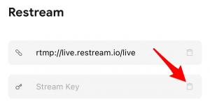 Paste Stream Key to Start
