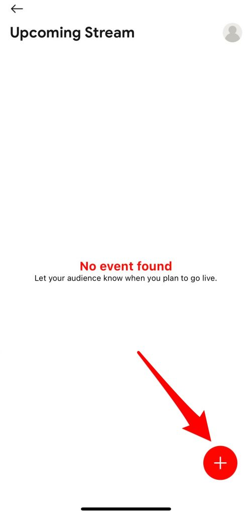 Click on Add icon to create events