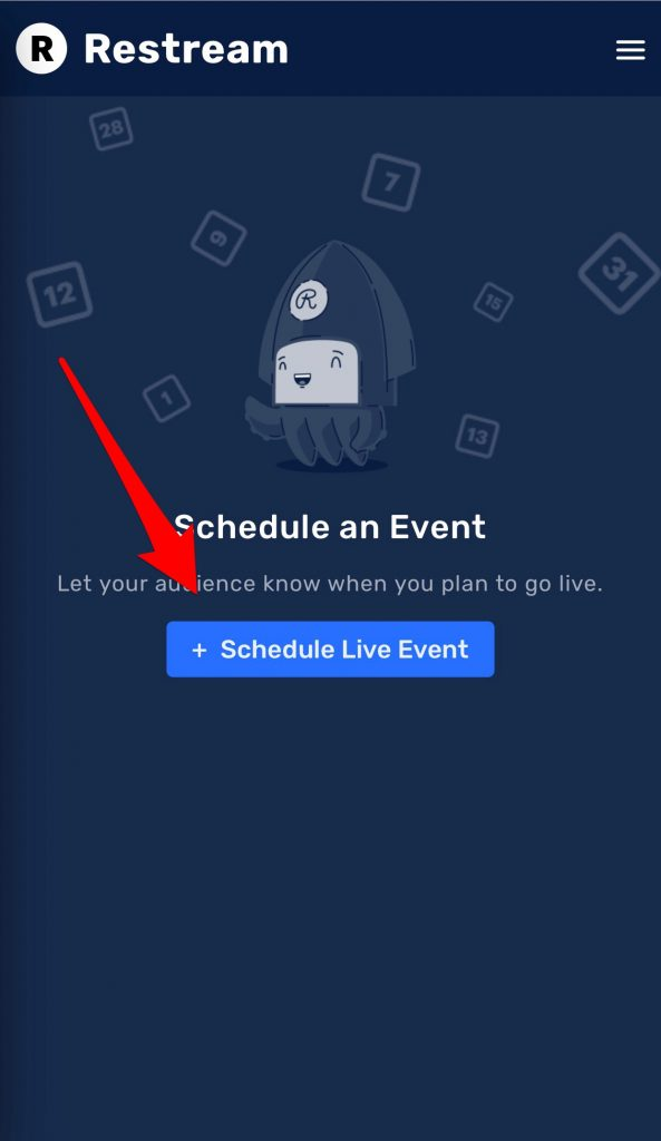 Schedule Live Event