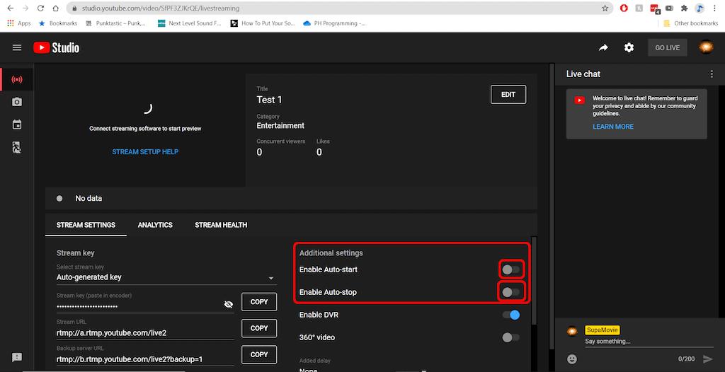 YouTube enable Auto-start & Auto-stop