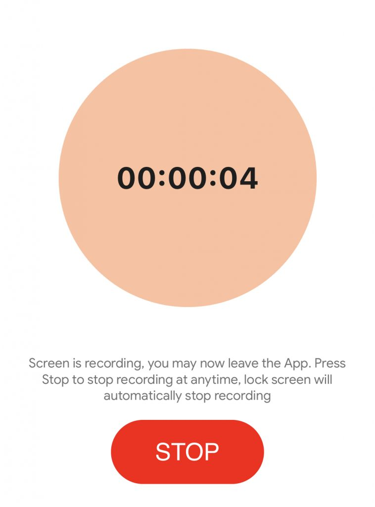 Your screen now is broadcasting